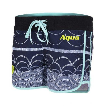 Női SUP rövidnadrág ILLUSION BLUE, AQUA MARINA